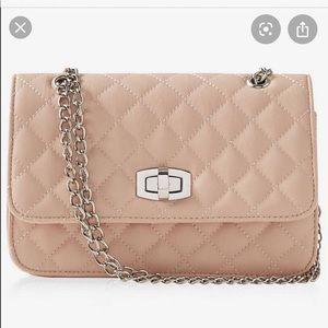 Express Quilted Chain Strap Shoulder Bag